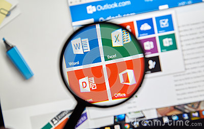 Microsoft Office Word, Excel. Editorial Stock Photo