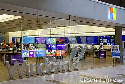 Microsoft store in Bellevue Square Mall Editorial Photo