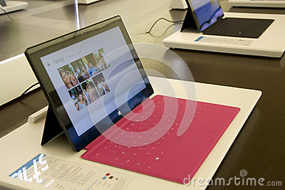 Microsoft Surface in Microsoft Store Editorial Photography