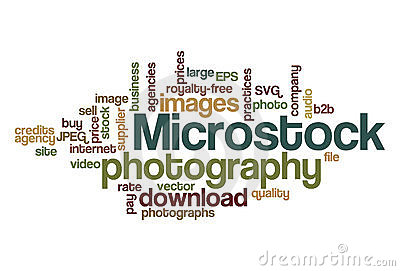Microstock photography - Word Cloud