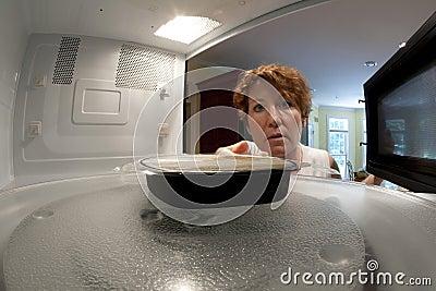 Microwave Dinner Stock Photo