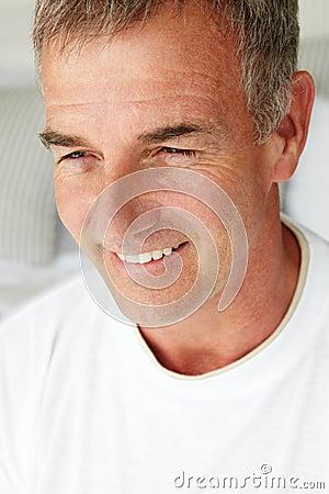 Mid age man portrait indoors
