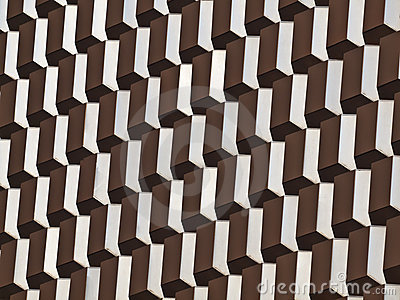Mid Century Architectural Abstract
