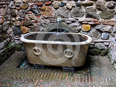 Mid century bathing vessel