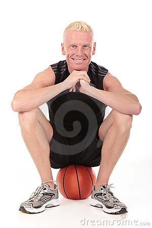 Mid forties basketball player