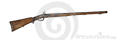 Mid-range hunting rifle of 19th century cutout