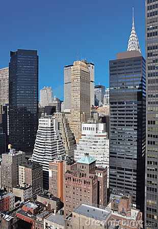 Free Mid-town Manhattan Cityscape Stock Images - 8598554