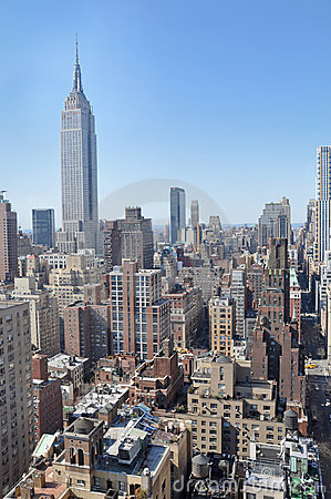 Free Mid-town Manhattan Cityscape Royalty Free Stock Photo - 8598575