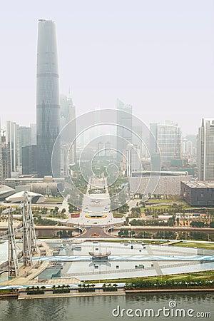 Midday haze over Guangzhou