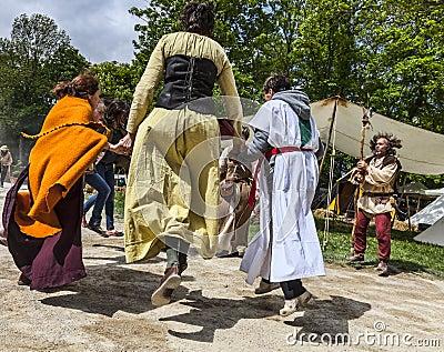 Middeleeuwse Vreugde Redactionele Stock Afbeelding