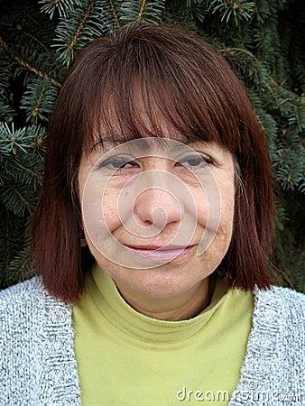 Middle Age Hispanic Woman