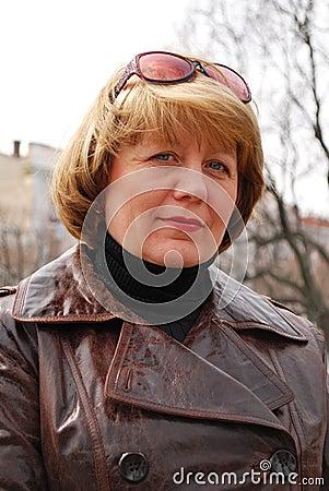 Middle age woman portrait