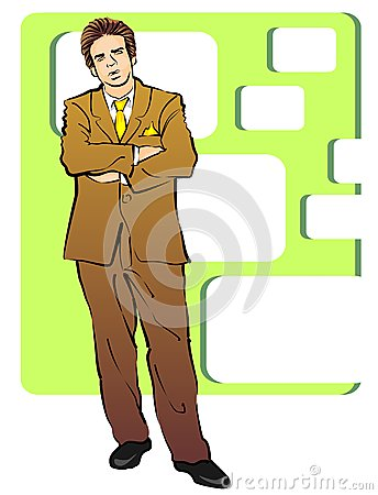 Middle Aged Businessman With Arms Folded