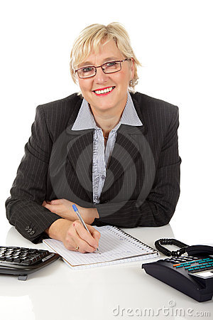 Middle aged businesswoman at office