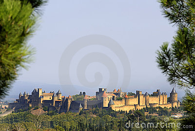 Middle aged city of Carcassone .