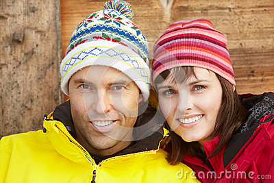 Middle Aged Couple Dressed For Cold Weather