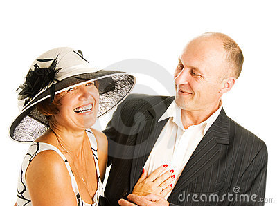 Middle-aged couple in love