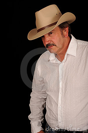 Middle aged cowboy