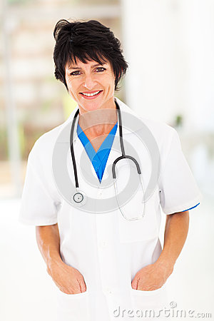 Middle aged doctor