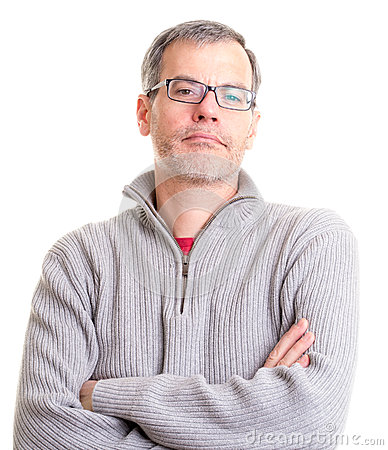 Middle Aged Man with arms folded