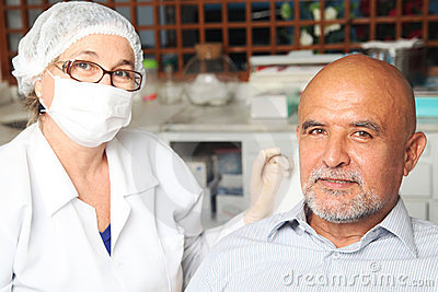Middle aged man with dentist