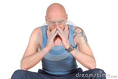 Middle aged man, praying