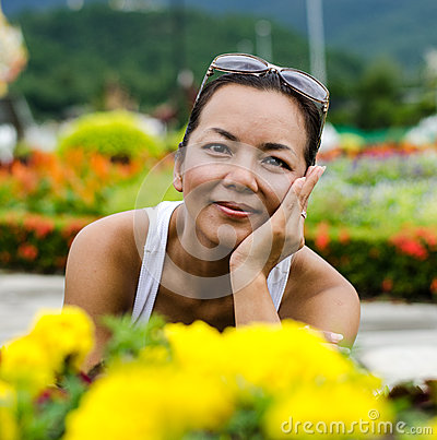 Middle - aged  Thai attractive woman.