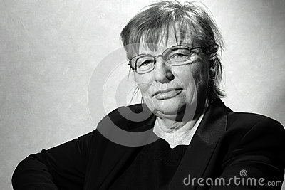 Middle aged woman in eyeglasses