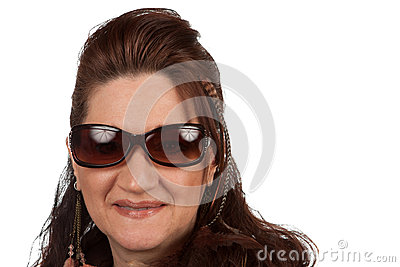 Middle Aged Woman with Sunglasses