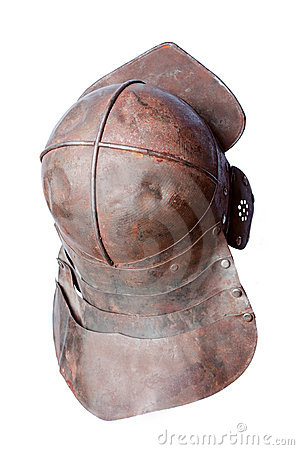 Middle ages battle helmet