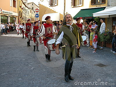 Middle Ages celebration Editorial Stock Photo