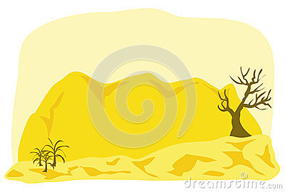 Middle east landscape cartoon illustration
