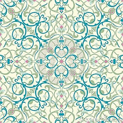Middle eastern inspired seamless tile design