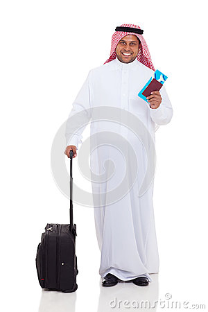 Middle eastern man travel