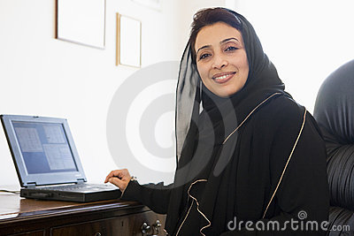 A Middle Eastern woman