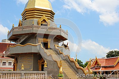 Middle part of Thai pagoda showing Naka s stair