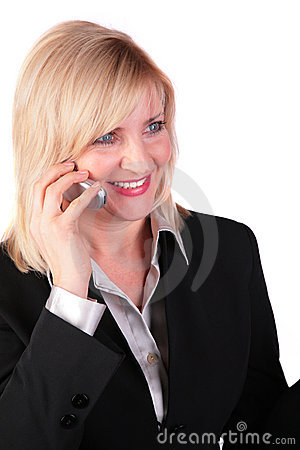 Middleaged businesswoman with cellphone 2