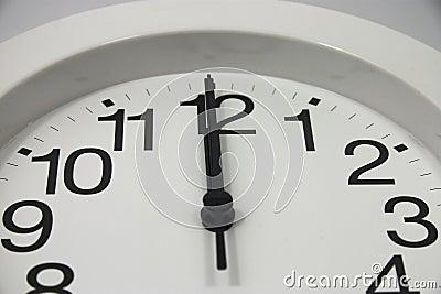 Midnight Clock Close Up