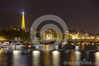 Midnight in Paris Editorial Stock Photo