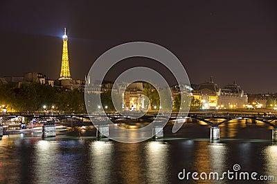 Midnight in Paris Editorial Stock Photo