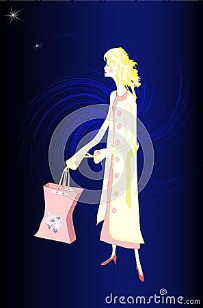 Midnight Shopper in Pink