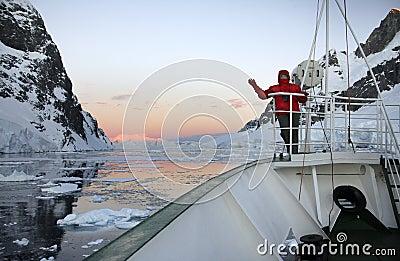 Midnight Sun in Antarctica
