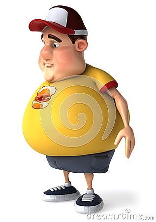 Miúdo gordo triste