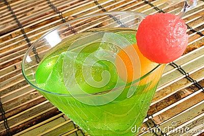 Midori Cocktail on Ice