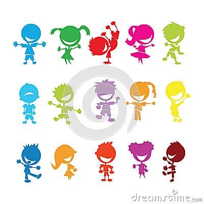 Miúdos coloridos