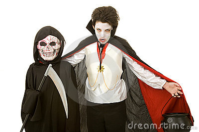 Miúdos de Halloween - vampiro e Reaper