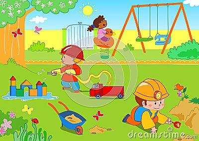 Miúdos no parque
