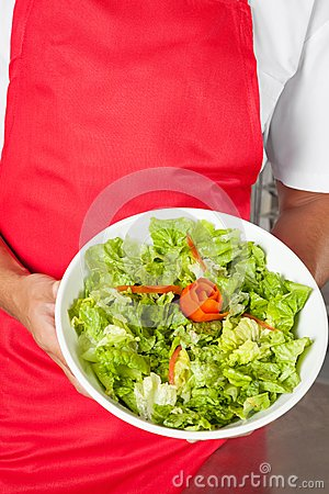 Chef Presenting Salad