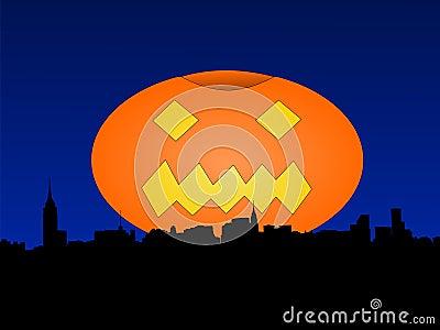 Midtown Manhattan at Halloween