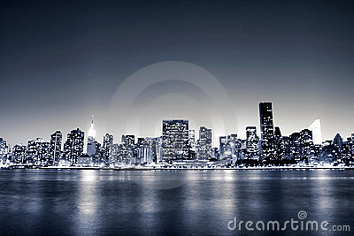 Midtown Manhattan skyline At Night, New York